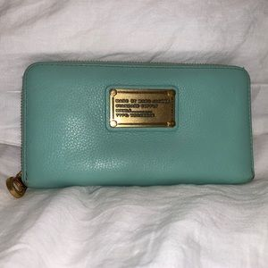 Marc By Marc Jacobs Leather Mint Zip Around Wallet